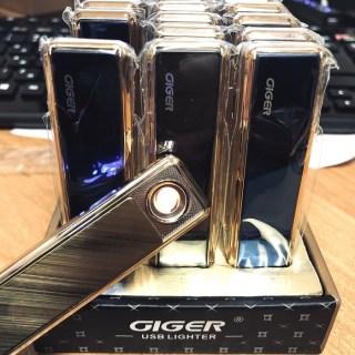Зажигалка с зарядкой от USB «GIGER» золотистая Минск +375447651009