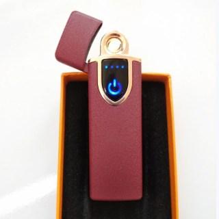 Зажигалка с зарядкой от USB «Стиль» бордовая купить Минск +375447651009
