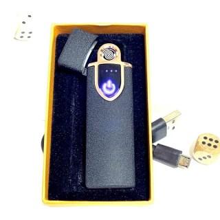 Зажигалка с зарядкой от USB «Стиль» черная Минск +375447651009