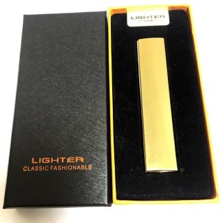 Зажигалка с зарядкой от USB «STYLE» золотистая Минск +375447651009