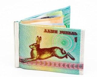 Зажим для денег с монетницей «Зайчик» купить
