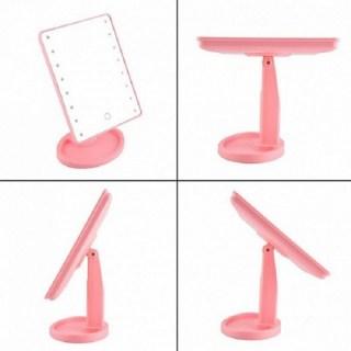 Зеркало с подсветкой для макияжа розовое 16 ламп купить в Минске +375447651009