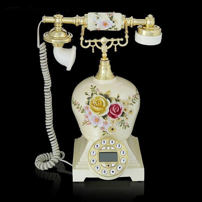 Ретро телефон «Розы в вазе» купить Минск +375447651009