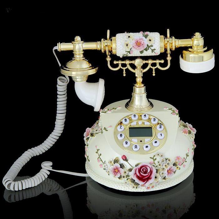 Ретро телефон «Нежные розы» купить Минск