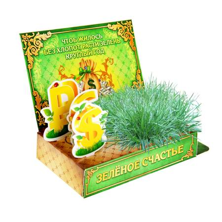 Открытка-растущая трава «Зеленое счастье» Минск