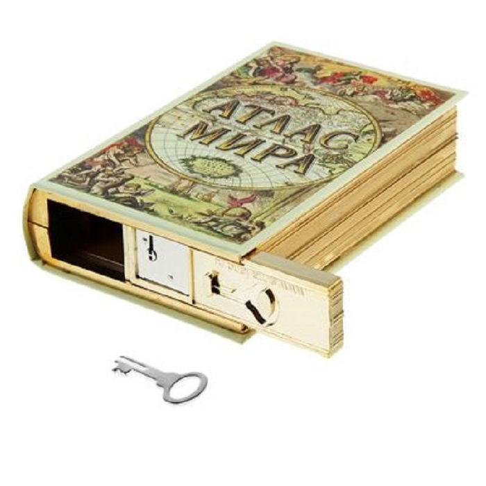 Сейф- книга 'Атлас мира' 19,5 см купить