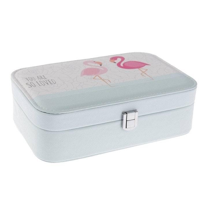 шкатулка для украшений фламинго купить