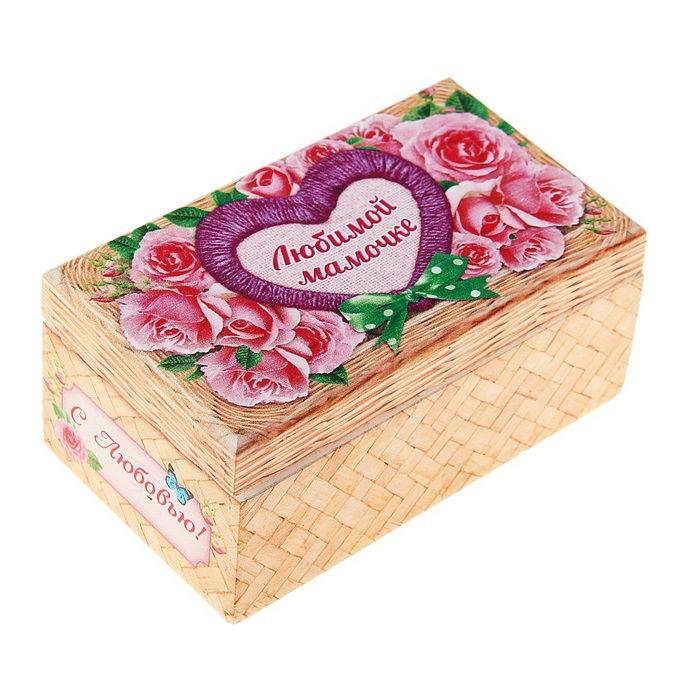 Шкатулка с зеркальцем «Любимой мамочке» Минск +375447651009