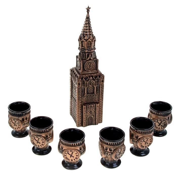 Набор штоф «Кремль» с рюмками 1,3 л. купить в Минске +375447651009
