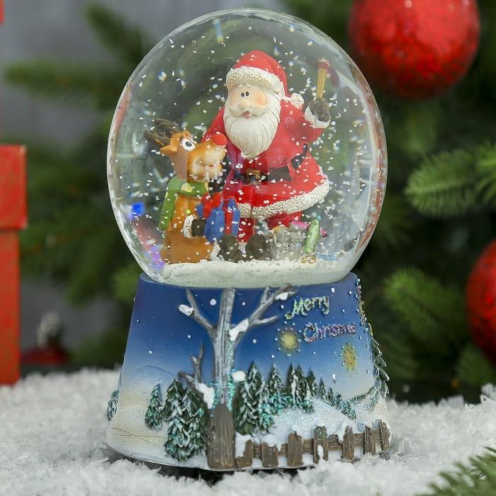 Снежный шар музыкальный «Волшебный Дед Мороз» купить в Минске +375447651009