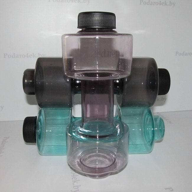 Спортивная бутылка для воды Гантеля фиолетовая Минск