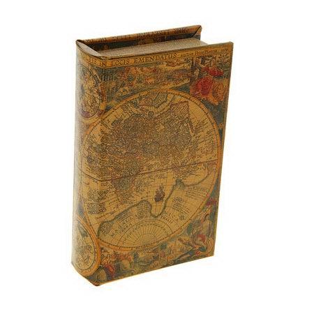 Сейф-книга «Старинные карты мира» купить Минск