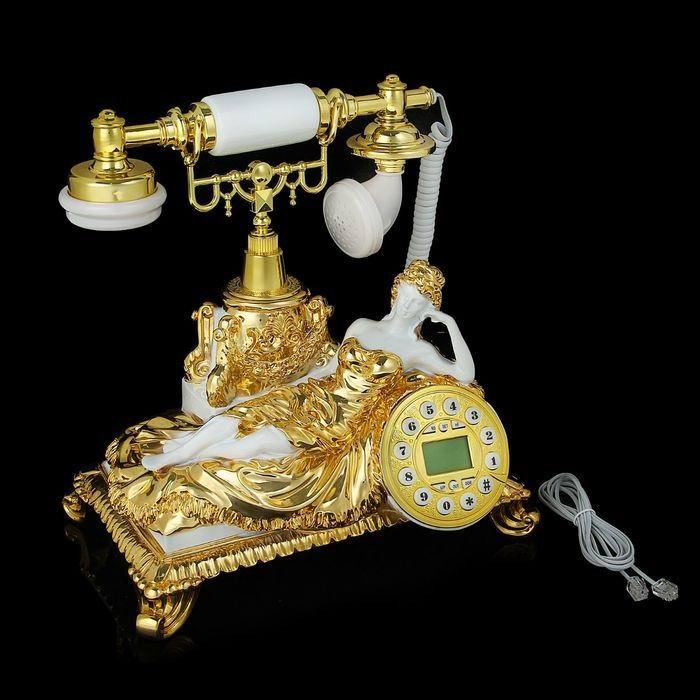 Ретро телефон «Девушка» золото  купить Минск
