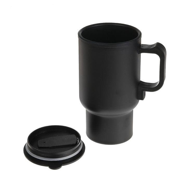 термокружка с подогревом от прикуривателя черная матовая под нанесение купить