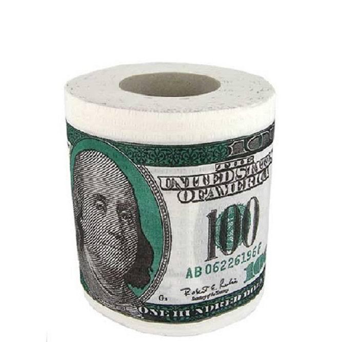 Туалетная бумага- прикол «Доллары» купить в Минске +375447651009